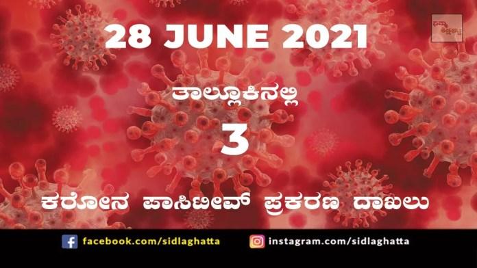 Sidlaghatta Covid-19 Update-28/06/2021