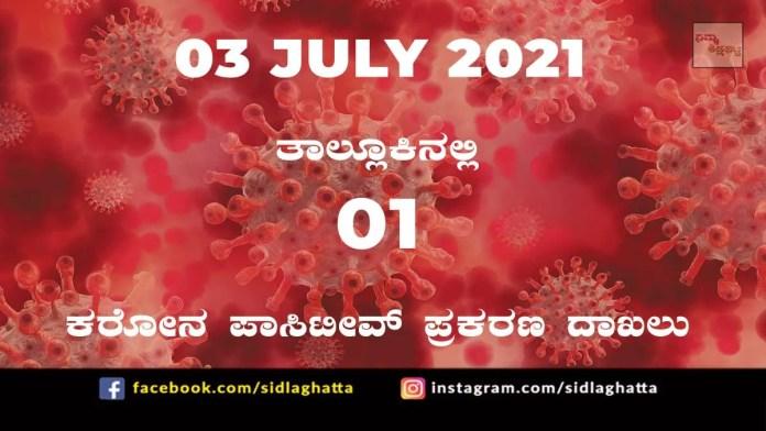 Sidlaghatta Covid-19 Update-03/07/2021