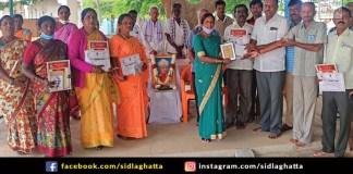 Teacher Rudreshamurthy sidlaghatta Gandhi Sadbhavana Award