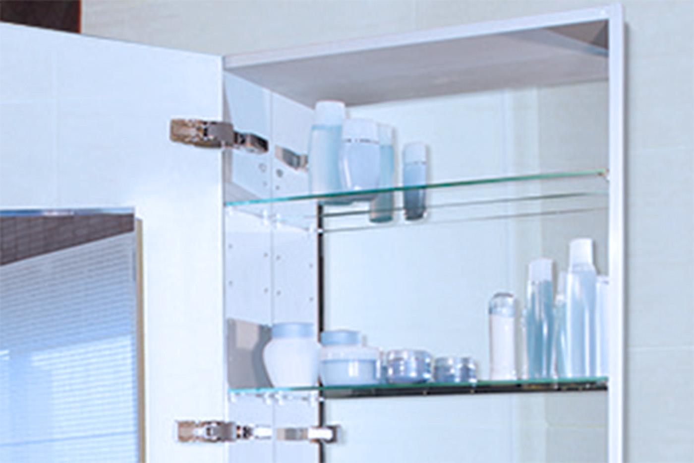 Anodized Aluminum Body  SIDLER  Swiss Bathroom Mirrored