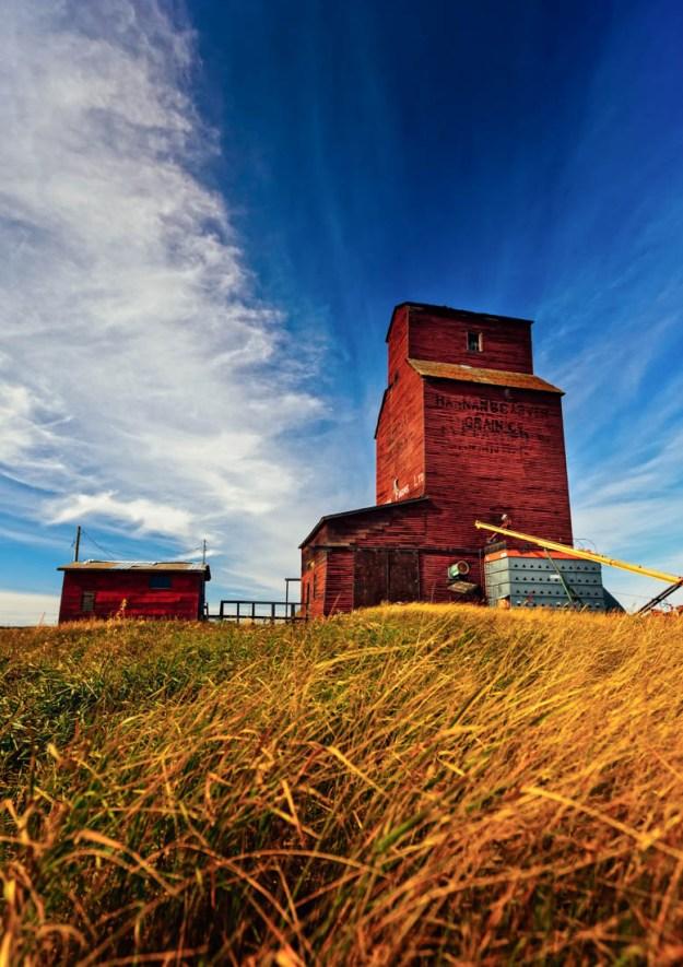 Killearn Farms Ltd. grain elevator in Shonts, Rural Alberta. Alberta agriculture landscape