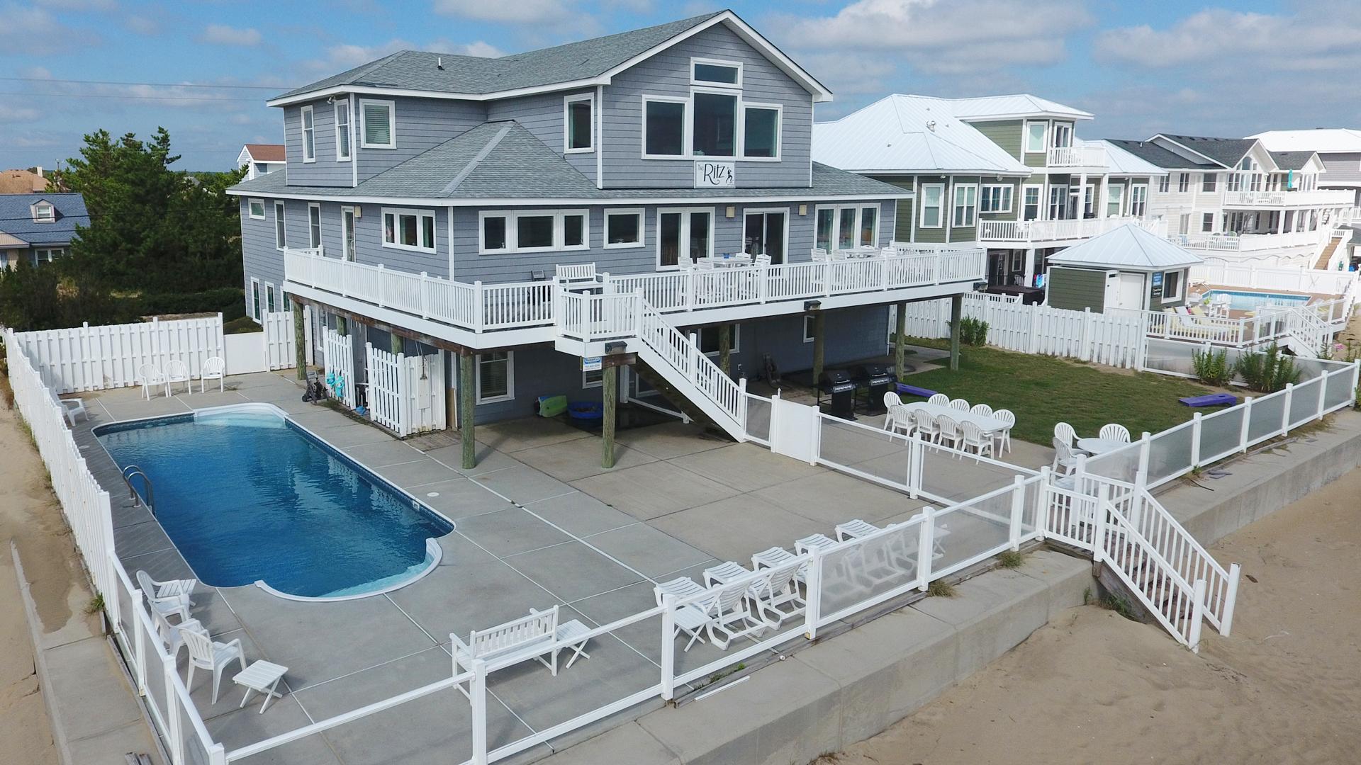 The Ritz  10 Bedroom Sandbridge Beach Rental  Sandbridge