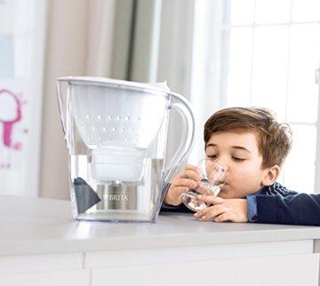 BRITA Wasserfilter Marella weiß inkl. 12 MAXTRA+ Filterkartuschen – BRITA Filter Jahrespaket zur Reduzierung von Kalk, Chlor & geschmacksstörenden Stoffen im Wasser - 5