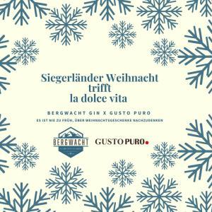 Siegberg Gin - Siegerländer Weihnacht trift la dolce vita