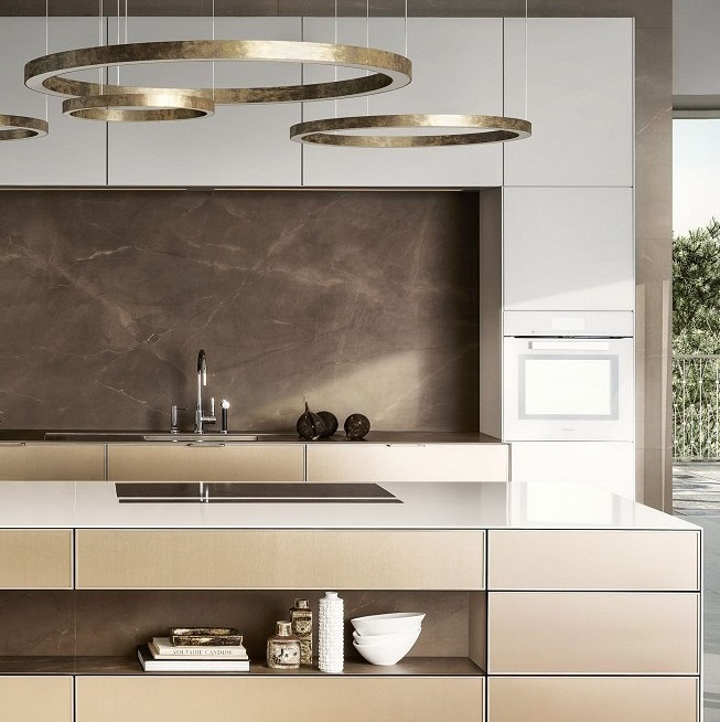 kitchen designers baskets siematic interior design of timeless elegance pure se 3003 r in lotus white and gold bronze with island