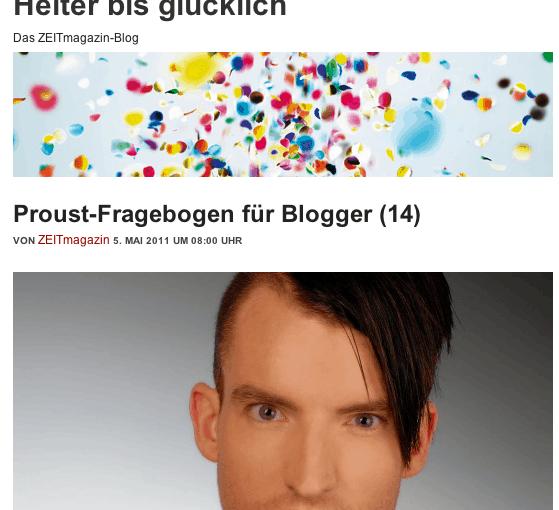 Zum Proust-en: Siems Luckwaldt und Nahtlos! bei Zeit Online