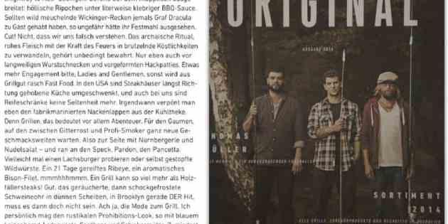 """Gentlemen bitte zum Grill (für Weber Grills Magazin """"Original"""")"""