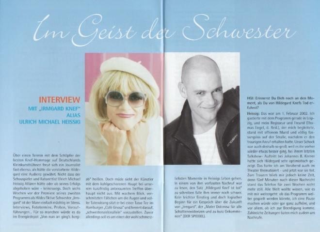Interview mit Irmgard Knef alias Ulrich Michael Heissig