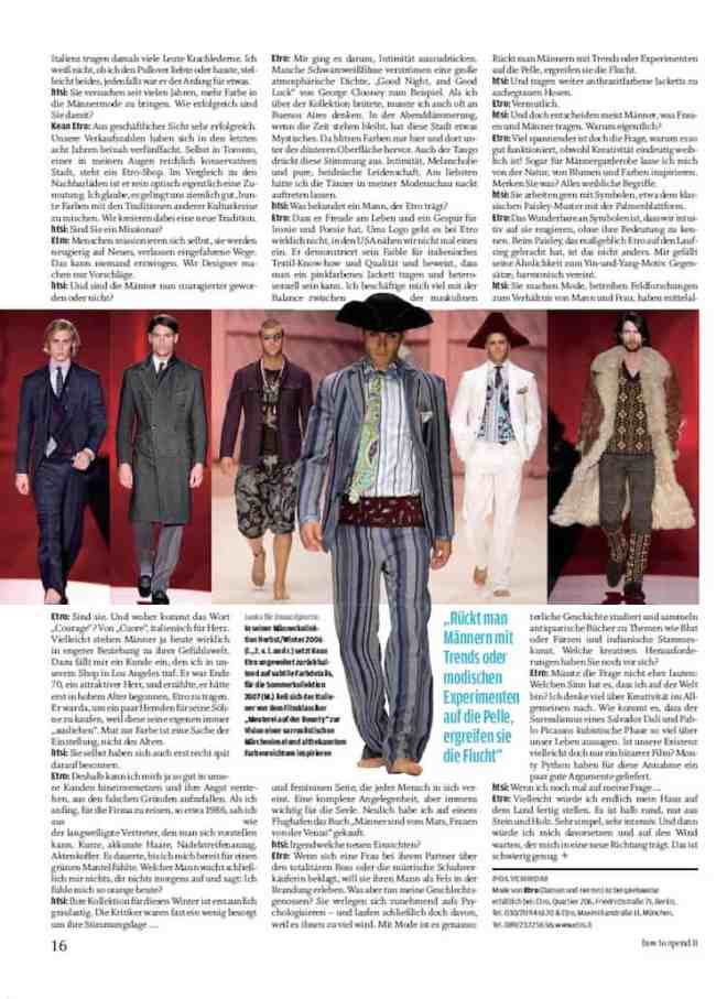 Interview mit Kean Etro (für how to spend it)