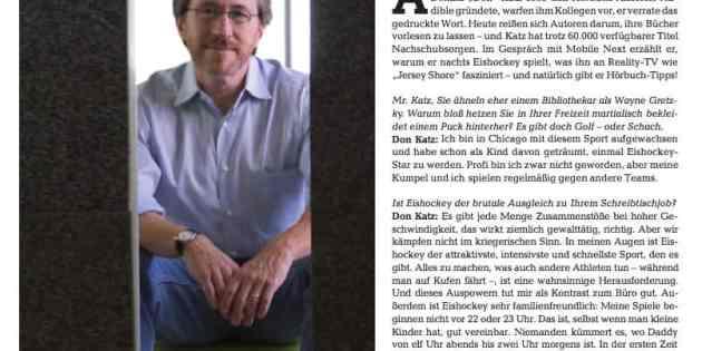 Siems Luckwaldt im Interview mit Don Katz von Audible für Mobile Next