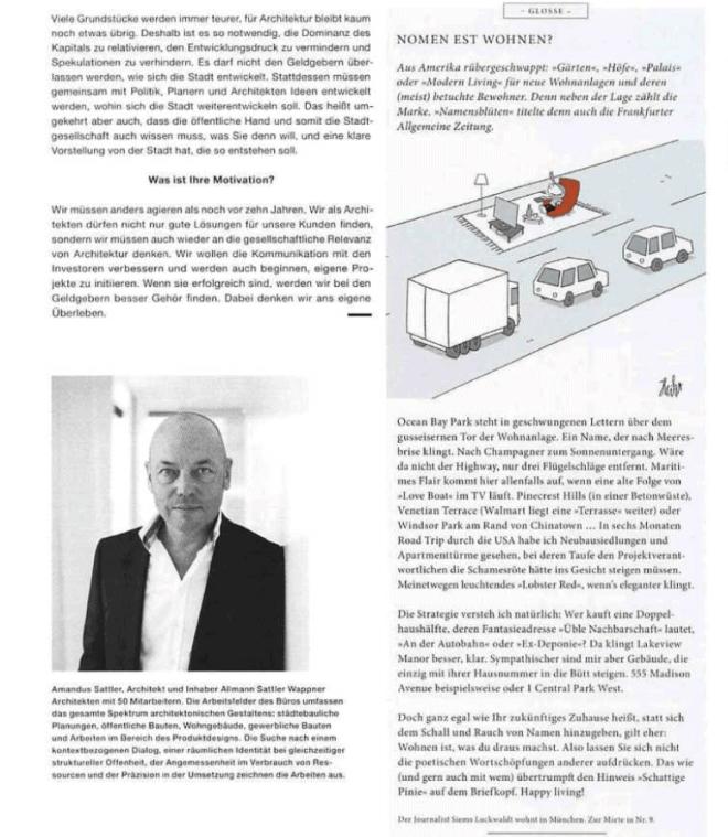 Glosse: Nomen est Wohnen (für das Magazin Squaremeter)