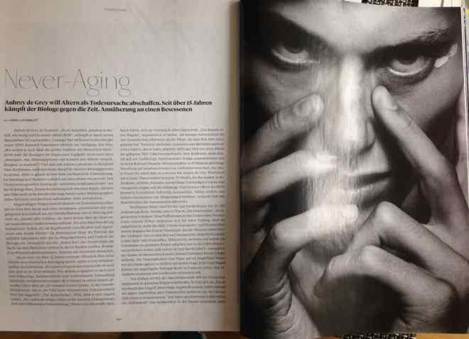 """""""Never-Aging"""" mit Aubrey de Grey (für L'Officiel Hommes)"""