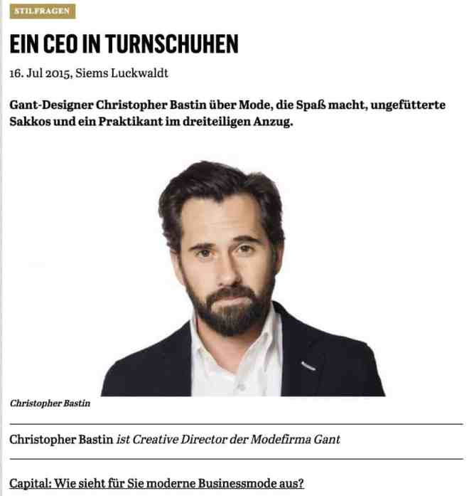 Was Mann trägt: Christopher Bastin, Gant (für Capital.de)