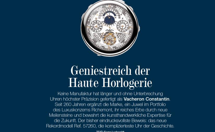 Geniestreich der Haute Horlogerie (für Grund Genug)