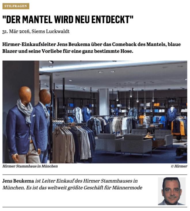 Was Mann trägt: Jens Beukema, Hirmer (für Capital.de)