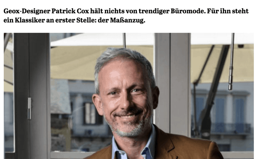 Was Mann trägt: Patrick Cox, Geox (für Capital.de)