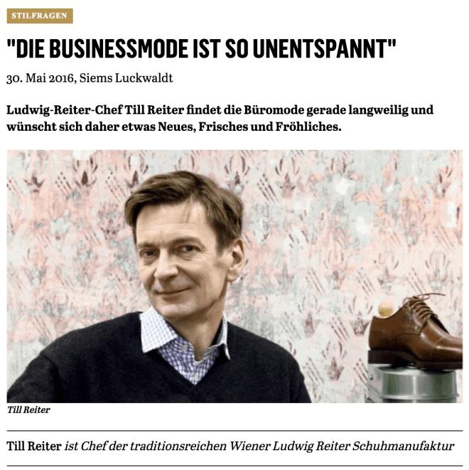 Was Mann trägt: Till Reiter, Ludwig Reiter (für Capital.de)