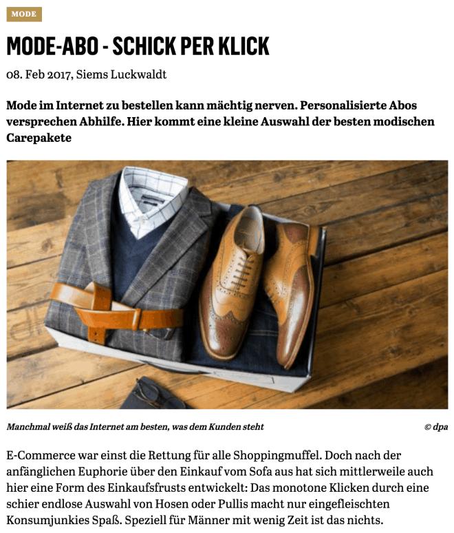Schick per Klick (für Capital.de)