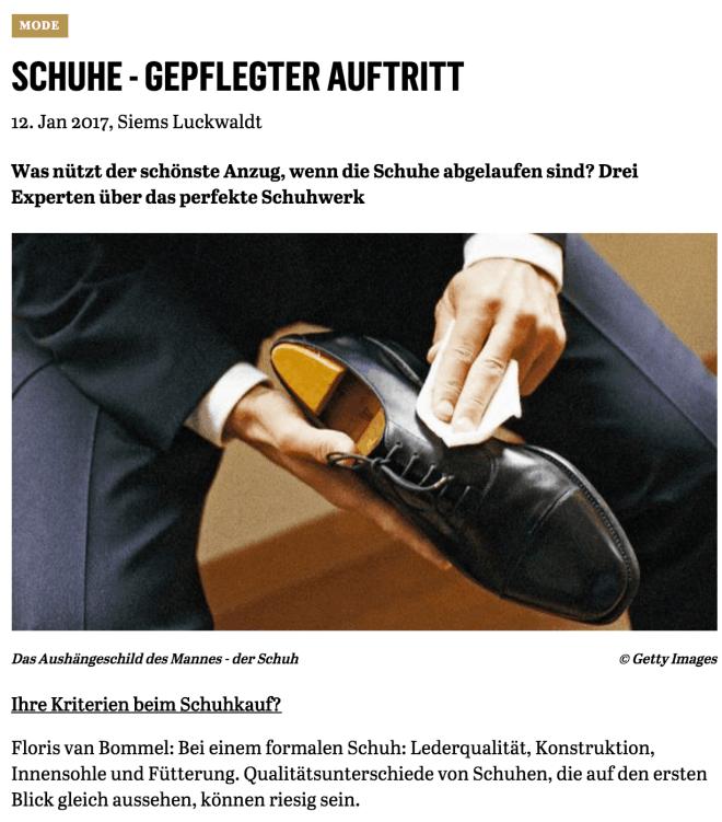 Gepflegter Auftritt (für Capital.de)