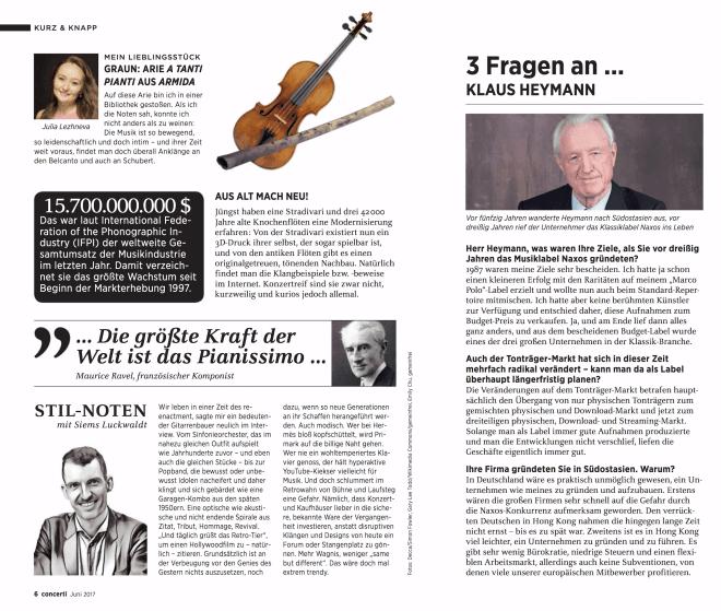 Kolumne: Stil-Noten, Juni (für Concerti)