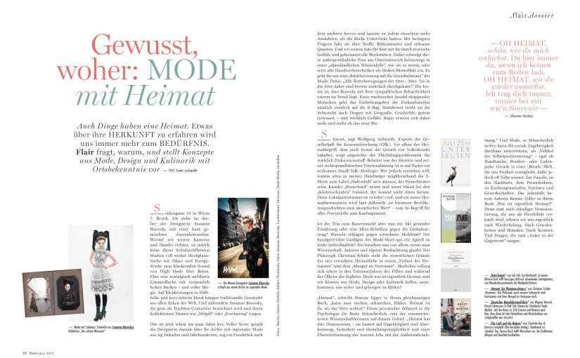Gewusst, woher: Mode mit Heimat (für Flair)
