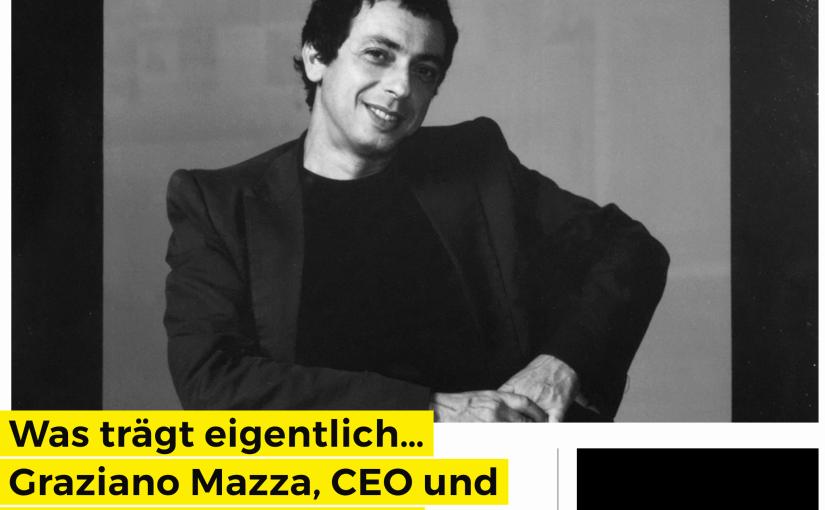 Was trägt eigentlich Graziano Mazza, Premiata (für Business-Punk.com)