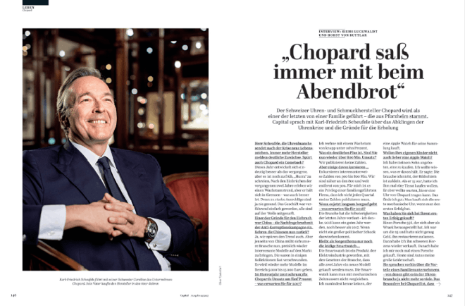 Interview: Karl-Friedrich Scheufele, Chopard (für Capital)