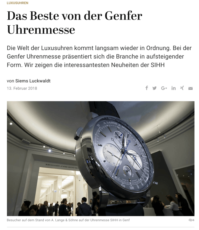 Best-of SIHH (für Capital.de)