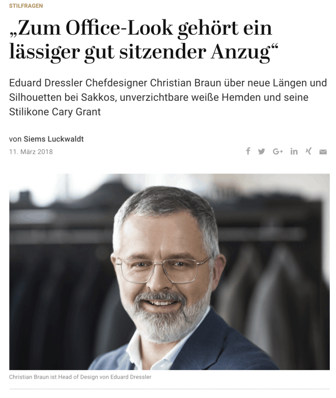 Was Mann trägt: Christian Braun, Eduard Dressler (für Capital.de)