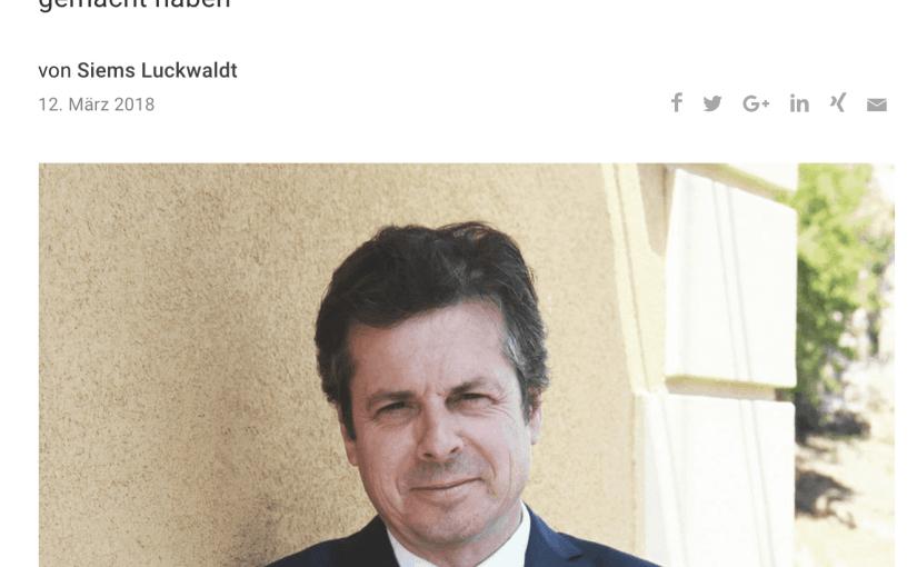 Zeitfragen: Jérôme Biard, Corum u. Eterna (für Capital.de)