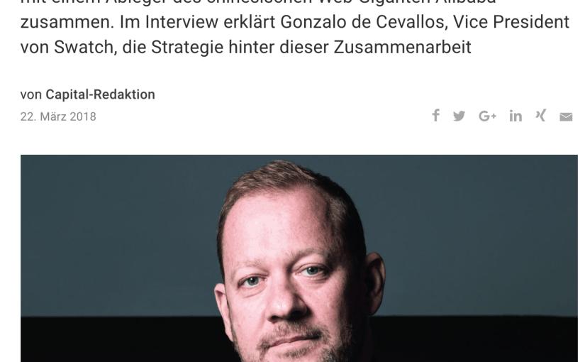 Interview: Gonzalo de Cevallos, Swatch (für Capital.de)