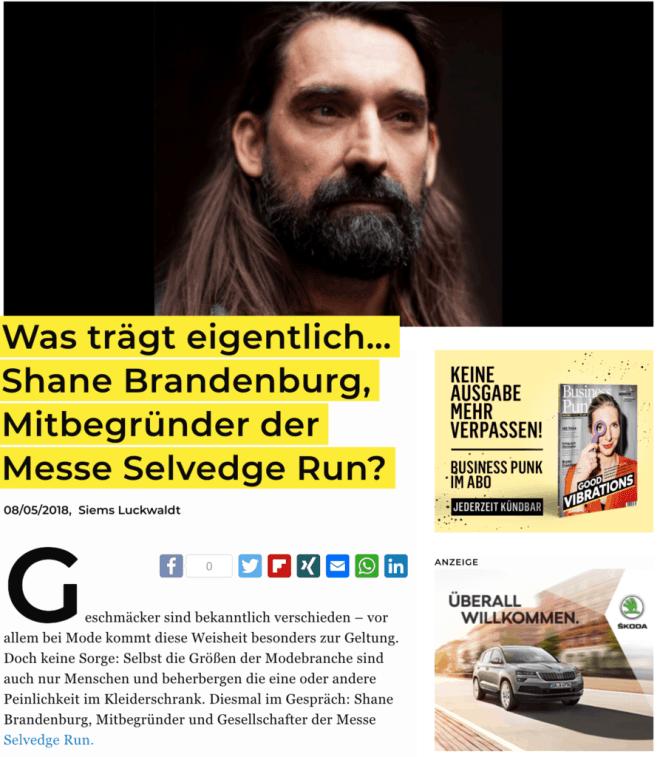 Was trägt eigentlich: Shane Brandenburg, Selvedge Run (für Business-Punk.com)