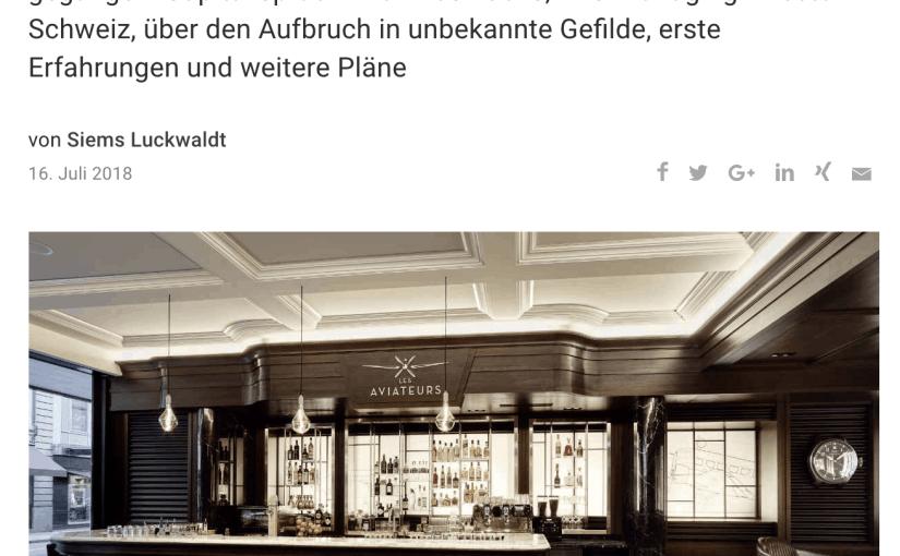 """Interview: Die Bar """"Les Aviateurs"""" von IWC (für Capital.de)"""