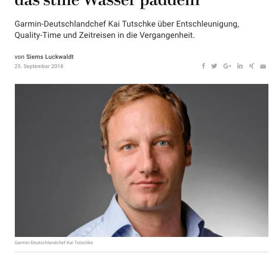 Zeitfragen: Kai Tutschke, Garmin (für Capital.de)