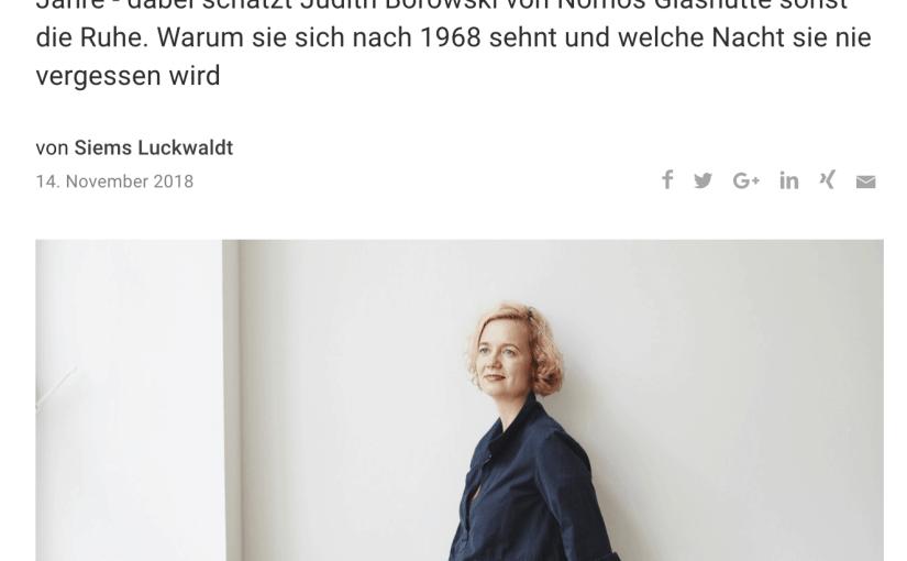 Zeitfragen: Judith Borowski, Nomos (Capital.de)