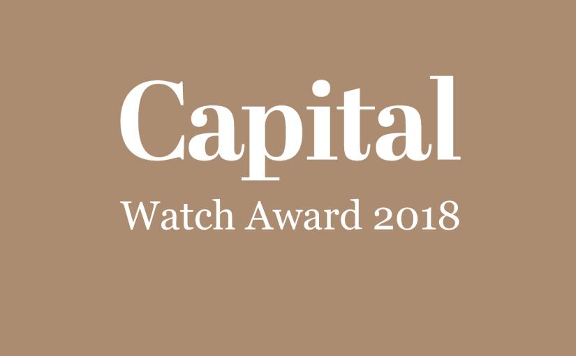 Uhren anders ehren: Capital verleiht erstmals den CAPITAL WATCH AWARD
