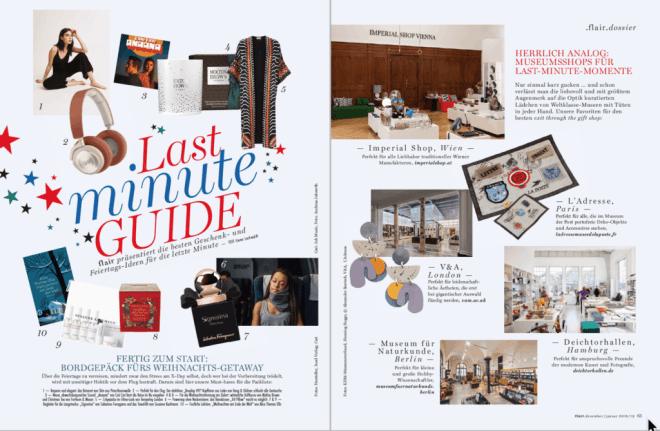Last Minute Guide (für Flair)