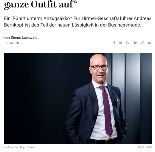 Was Mann trägt: Andreas Bernkopf, Hirmer (für Capital.de)
