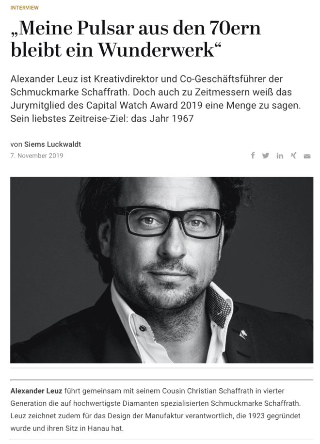 Capital Watch Award 2019: Meet the Jury – Alexander Leuz, Schaffrath (für Capital.de)