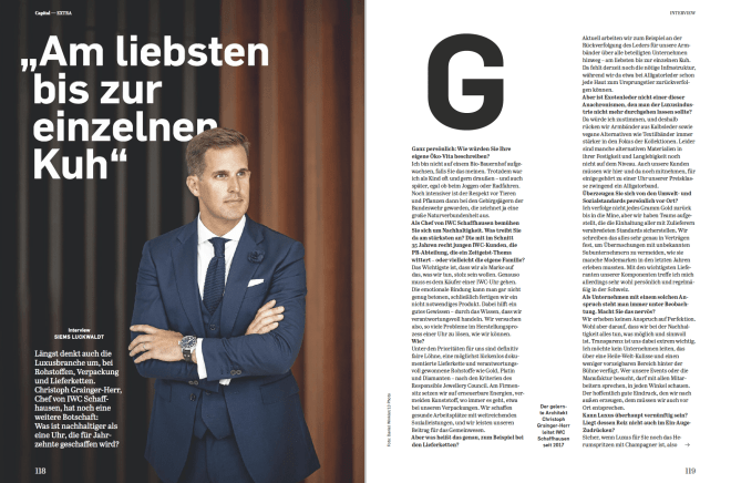 Interview: Christoph Grainger-Herr, IWC (für Capital)