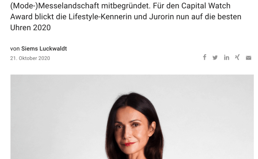 Capital Watch Award 2020: Meet the Jury – Anita Tillmann, Premium Exhibitions (für Capital.de)