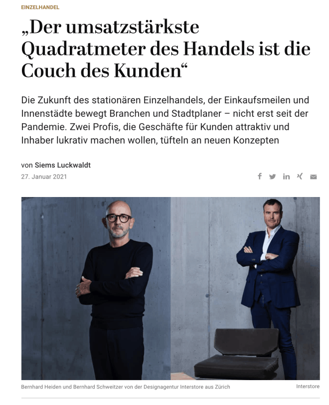 Interview: Bernhard Heiden & Bernhard Schweitzer, Interstore (für Capital.de)