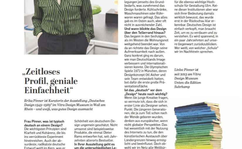 Interview: Erika Pinner, Vitra Design Museum (für Capital)