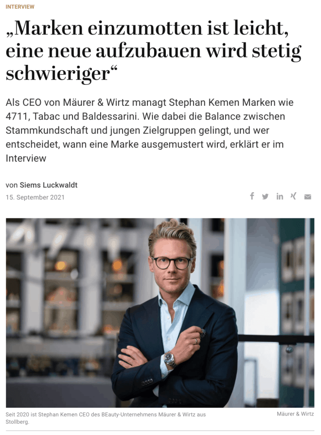 Interview: Stephan Kemen, Mäurer & Wirtz (für Capital.de)