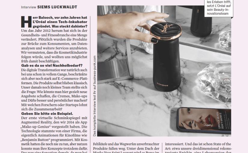 Interview: Guive Balooch, L'Oréal (für Business Punk)