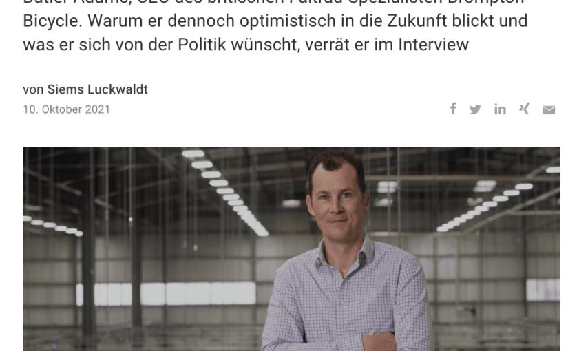 Interview: Will Butler-Adams, Brompton Bicycle (für Capital.de)