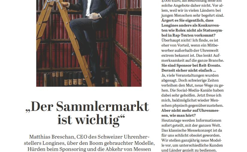 Interview: Matthias Breschan, Longines (für Capital)