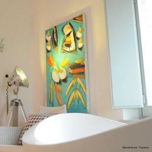 Image of the free standing matthias thun bath tub in the 'Cortona' Room
