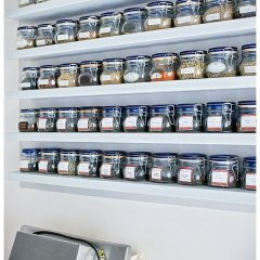 Image showing a glorious spice shelf in a food lovers' villa in tuscany