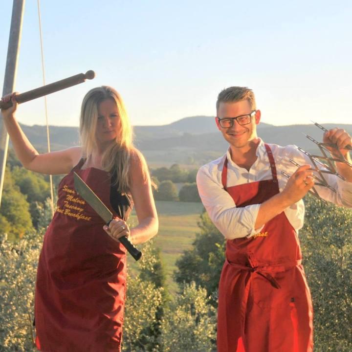 Honeymooners Making Pici Sienese Pasta at Siena House